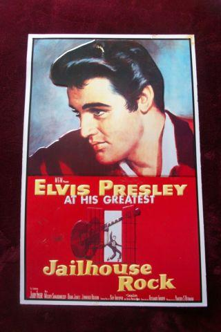 Elvis Presley tin movie poster