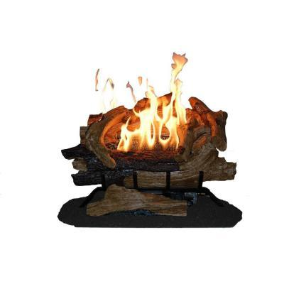 Emberglow american elm 24 in vent free propane gas for Home decor 77429