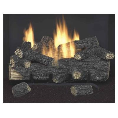 Emberglow Savannah Oak 18 In Vent Free Propane Gas Fireplace Logs With Remote For Sale In