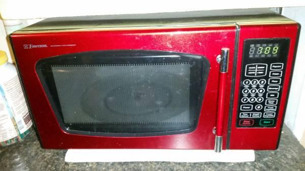 Emerson red microwave for sale in austin texas classified - Red over the range microwave ...