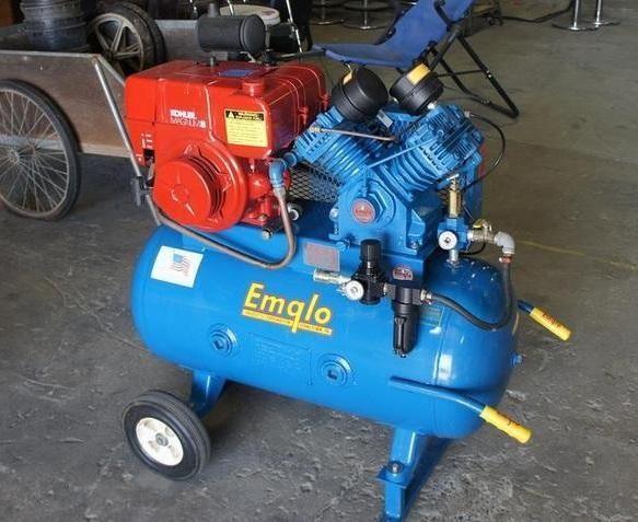 Emglo 8hp Kolher Gas Air Compressor 30 Gallon Wheelbarrow