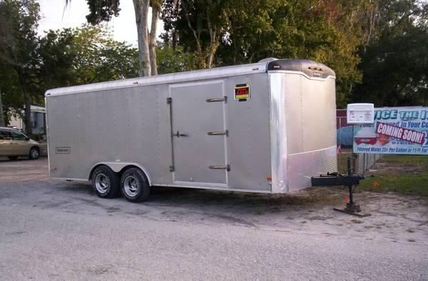 Enclosed Car Hauler Combo Utility Trailer
