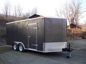 ENCLOSED CARGO TRAILER 8.5'x16' - $5300 (Brooktondale)
