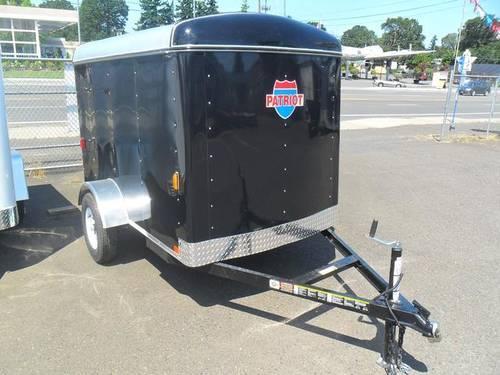 Enclosed Single Axle Cargo Trailer 5x8 For Sale In