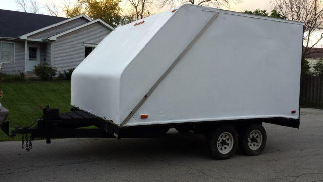 Snowmobile Trailer Axles : Enclosed snowmobile atv utility trailer dual axle