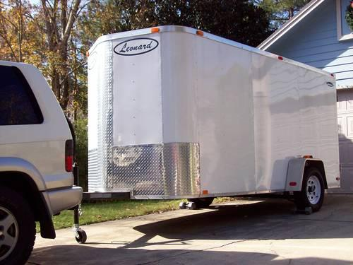 Enclosed V-Nose Trailer, single Axle with Art and Craft