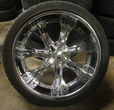 Buy Here Pay Here Tampa >> ENE 24 INCH 5 LUGS CHROME RIMS & TIRES - BOLT PATTERN 5X5.0 for Sale in Tampa, Florida ...