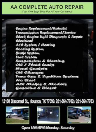 Engine , Fuel Systems , Emissions & Performance Service