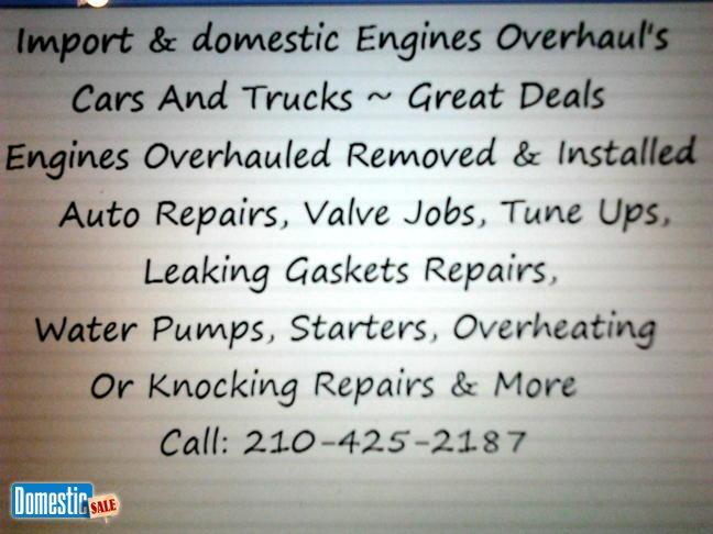 Engine Repairs / 210-425-2187