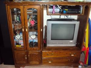 Entertainment Center - $75 (rockford,il)