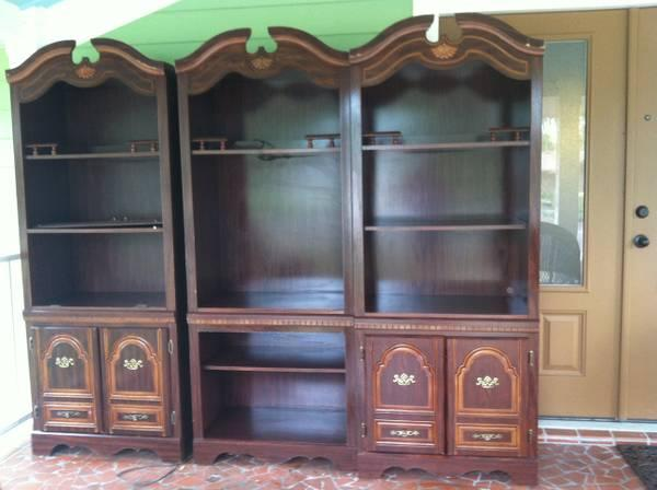 Entertainment Center Bookcases Wall Unit For Sale In
