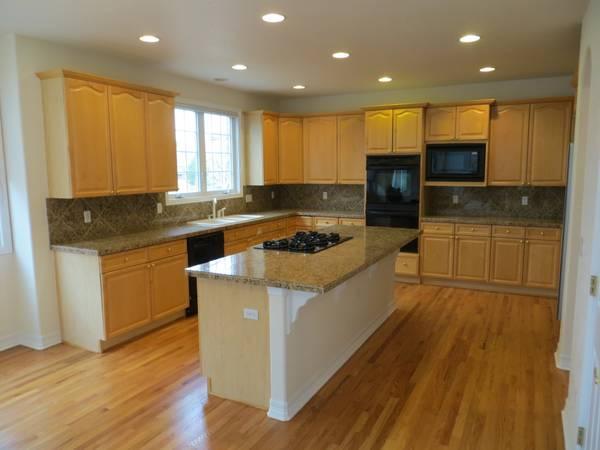 Entire Kitchen-Maple Wood Cabinets, Island, Desk,Wet bar ...