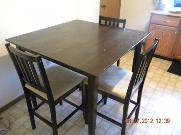 Espresso Brown Table W 4 Chairs Appleton For Sale In Appleton Wisconsin Classified