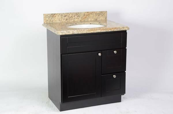 Espresso Shaker Bathroom Vanity Set   $150