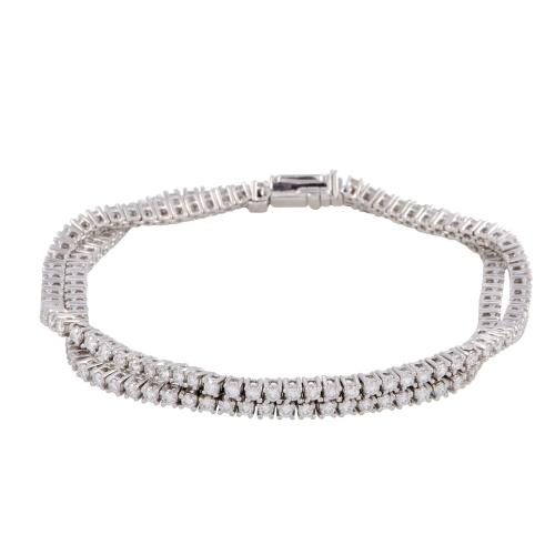 Estate Harry Winston Womens Platinum and Diamond Double