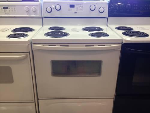 White Electric Stove ~ Estate white electric range stove self cleaning oven
