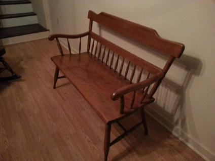 Ethan Allen Bench solid Maple & Birch