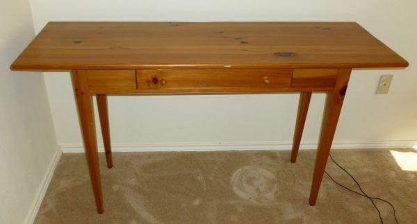 Ethan Allen Craftsman Collection Solid Pine Sofa Table