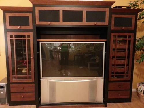Ethan Allen Entertainment Center And Television For Sale