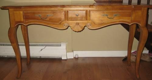 Ethan Allen French Oak Sofa Table Console For Sale In