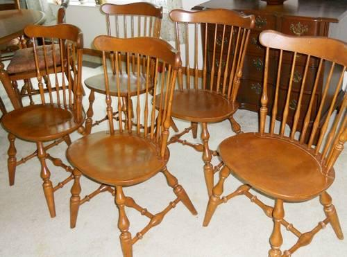 Ethan Allen Governor Bradford Side Chairs Nutmeg