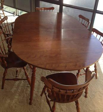 Awesome Ethan Allen Heirloom Collection Maple Dining Set W/ 6