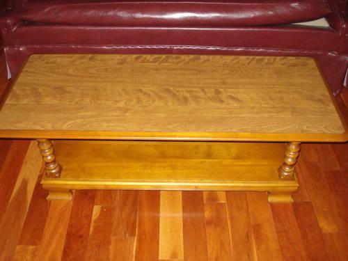 Ethan Allen Maple Coffee Table Bottom Shelf Retired Heavy