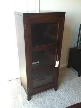 Ethan Allen Media Cabinet/Bookcase Horizon Collection