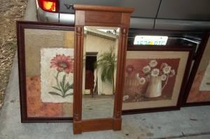 Ethan Allen Oak Framed Mirror 100 Northeast Manatee