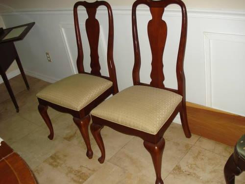 Bernhardt Traditional Cherry Queen Anne Dining Chairs Clifieds Across The Usa