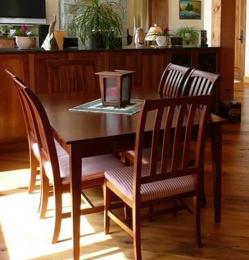 ETHAN ALLEN SOLID CHERRY 9 PIECE DINING ROOM SET