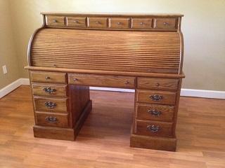 Great Ethan Allen Solid Oak Roll Top Desk Design Ideas
