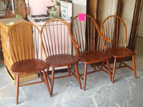 ETHAN ALLEN WOODEN DINING CHAIRS AND BARSTOOLS for Sale