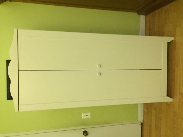 EUC IKEA KIDS CHILDRENS BABY STORAGE ARMOIRE WHITE WARDROBE HENSVIK