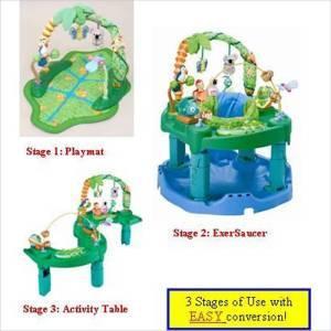 0d57d6b01 Evenflo ExerSaucer Triple Fun Active Learning Center Jungle ...