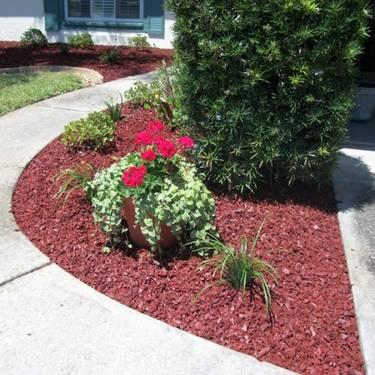 Everlast Cedar Red Rubber Mulch For Landscapes For Sale In