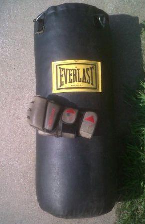 Everlast Heavy Bag W Century Mens Open Finger Boxing
