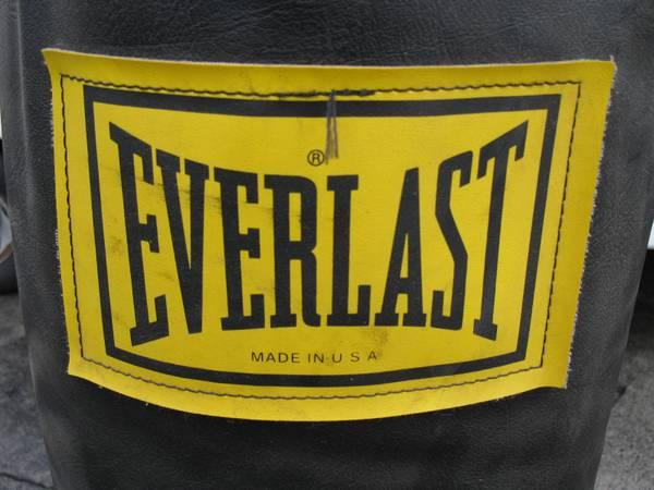 EVERLAST HEAVY PUNCHING BAG WITH STAND - $125