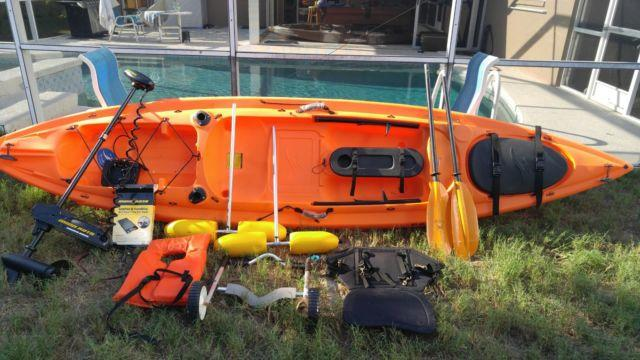 EVERYTHING NEW: Ocean Kayak Prowler BG II w/ trolling motor+++