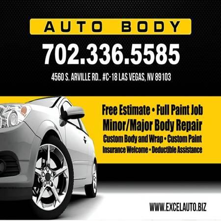 Excel auto body body shop car paint body paint for for Auto paint shop las vegas