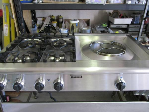 Excellent Condition Thermador 48 Cooktop Range Back