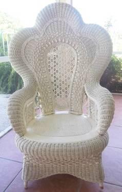 Exquisite Large Vintage Wicker Chair Heywood Wakefield