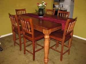 Extension Dining Table/ 6 Chairs   $760 (Lexington)