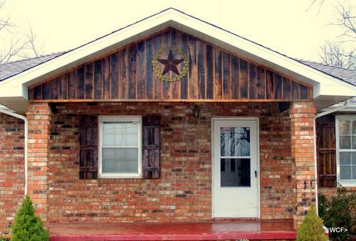 Exterior Shutters  Reclaimed Barn Wood / All Woods /