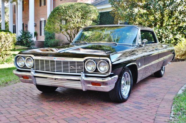 Extra Clean 1964 Chevrolet Impala Ss Hardtop 409 Big Block Buckets A C