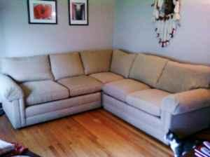 Extra Plush Henredon Sectional Sofa Rockford For Sale