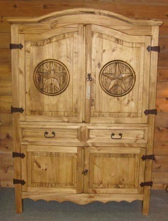 Extra Wide Rustic Armoire For Sale In Connor Texas