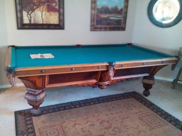 EXTREMELY RARE POOL TABLE BRUNSWICK ANTIQUE