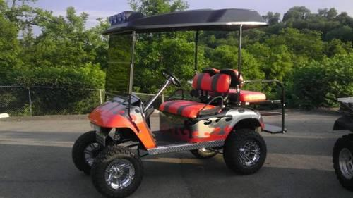 College Golf Cart Paints on golf ball paint, car paint, 4 wheeler paint, go cart paint, golf carts less than 500, golf carts for 500 dollars, riding lawn mower paint,