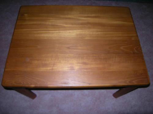 Fabulous solid teak end table 80s modern danish style for 80s furniture for sale